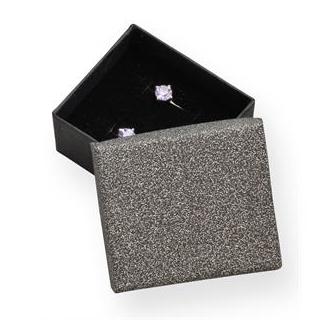 Darčeková krabička striebristo sivá / čierna