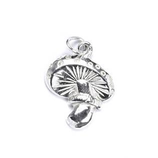 Stříbrný přívěšek - houba muchomůrka