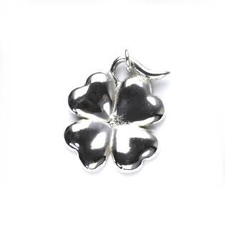 Stříbrný přívěšek - čtyřlístek