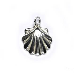 Stříbrný přívěšek - škeble
