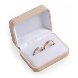 Semišová darčeková krabička na snubné prstene