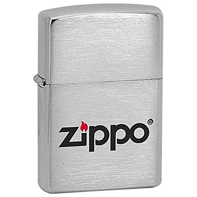 ZIPPO Logo LC - benzínový zapalovač broušený 21548