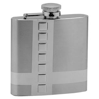 Ocelová kapesní lahev - placatka 180ml 97034