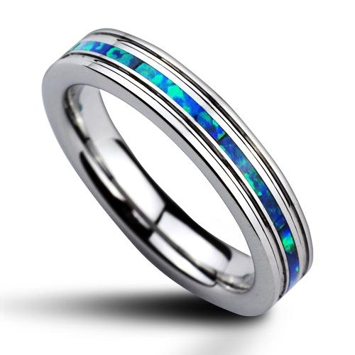 NWF1022 Dámský snubní prsten s opálem