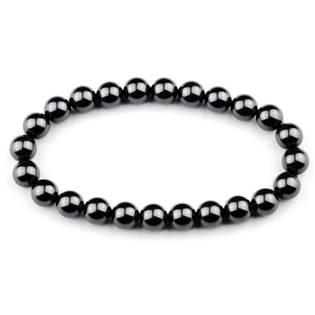 Perlový náramek, 8 mm černé perly Crystals from Swarovski®