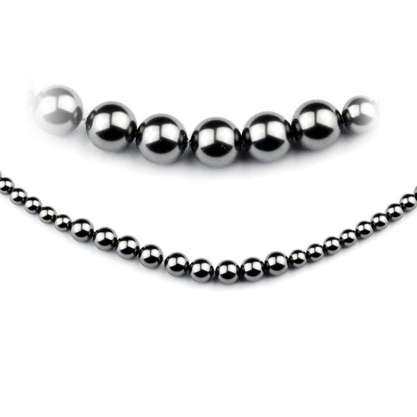 Perlový náhrdelník s čiernymi perlami Swarovski ®