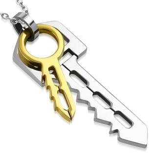 Ocelový přívěšek - klíčky