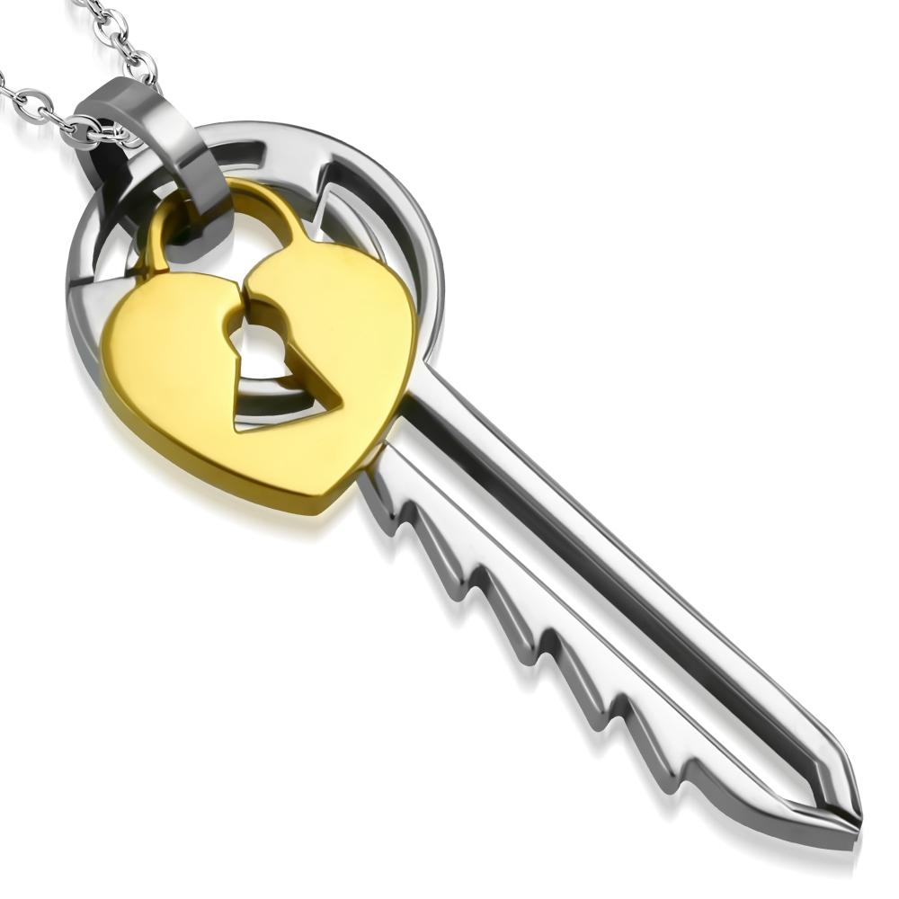 Oceľový prívesok - kľúčik