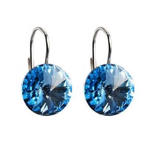 Stříbrné náušnice s krystaly Crystals from Swarovski® Aqua
