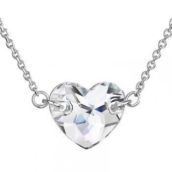 Strieborný náhrdelník srdce Crystals from Swarovski ® Crystal