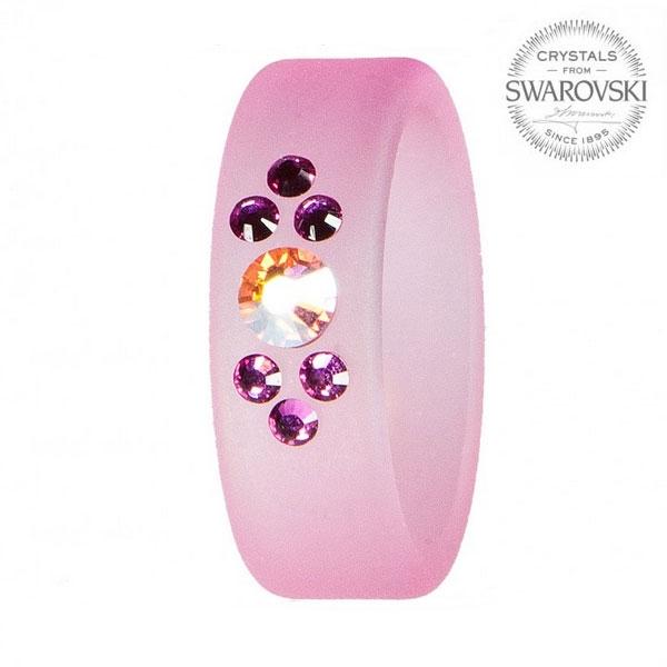 Prsten s krystaly Swarovski®, ROSE, vel. 56