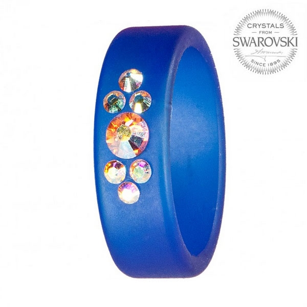 Prsten s krystaly Swarovski®, SAPPHIRE, vel. 53