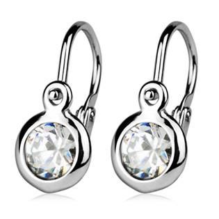 Šperky4U Dětské náušnice stříbrné, čirý zirkon - CS1100