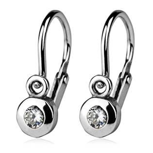 Šperky4U Dětské náušnice stříbrné, čiré zirkony - CS1210-C