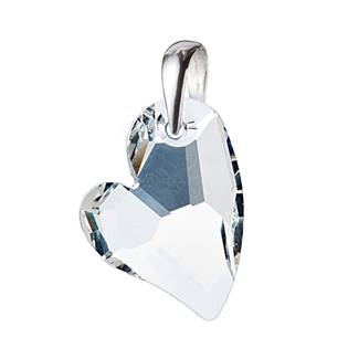 Stříbrný přívěšek srdce z dílny Crystals from Swarovski®, Crystal