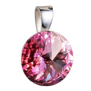 Stříbrný přívěšek rivoli Crystals from Swarovski® Rose 12 mm