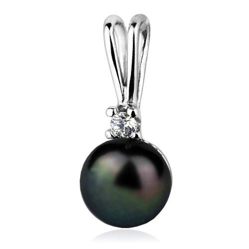 Strieborný prívesok prírodné perla 8 mm