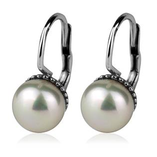 Stříbrné náušnice přírodní perly 7,5 mm