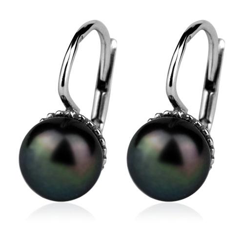 Stříbrné náušnice přírodní perly 7,5 mm CS5112
