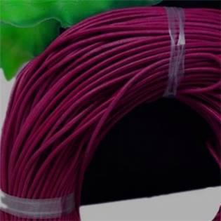 Kožená šňůrka kulatá tmavě vínová, tl. 2 mm