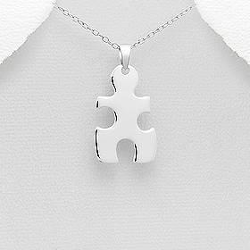 Stříbrný přívěšek puzzle