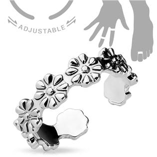 Prsten na nohu s květinovým dekorem