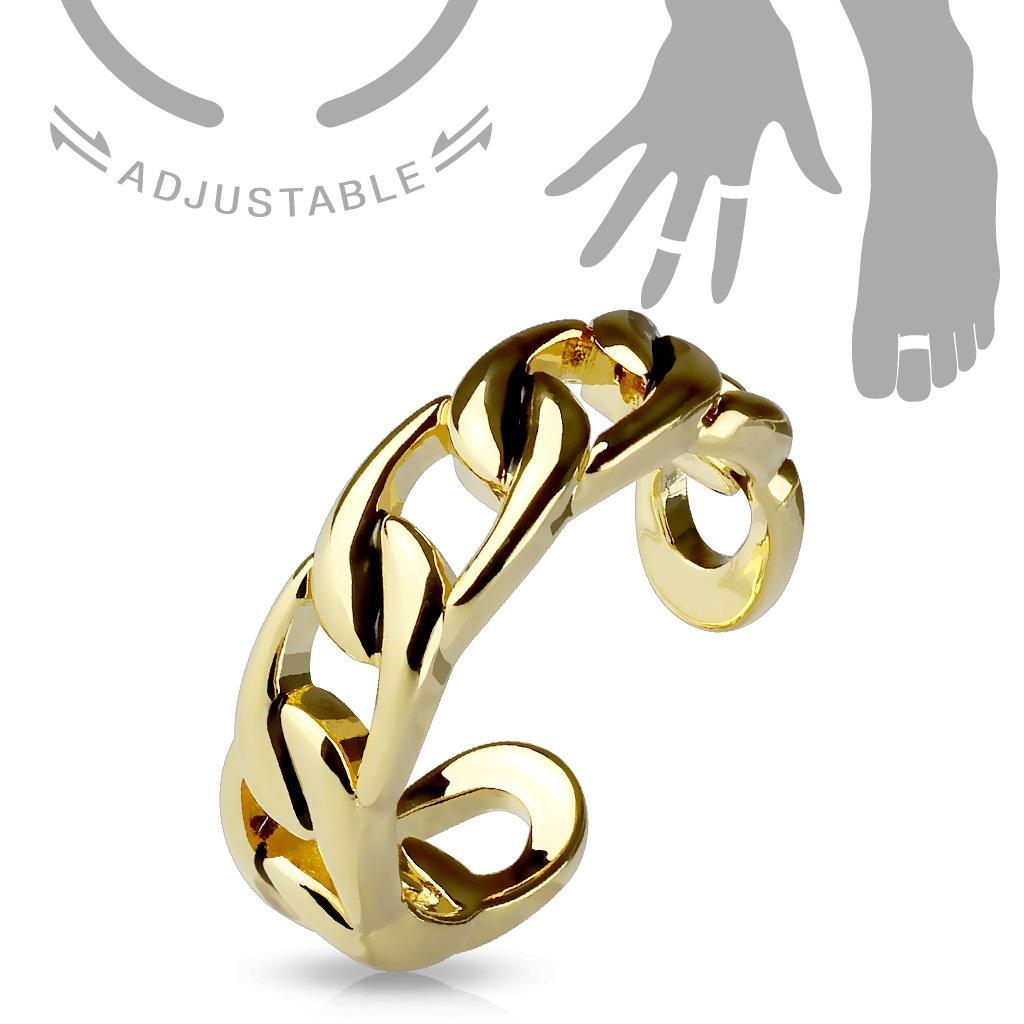 Pozlátený prsteň na nohu - reťaz
