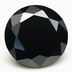 CZ kubický zirkon - black, pr. 1.00 mm