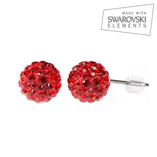 Titanové náušnice s krystaly Swarovski®, Light Siam