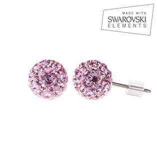 Titanové náušnice s krystaly Swarovski®, Light Rose