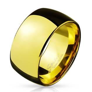 Pánský zlacený ocelový prsten