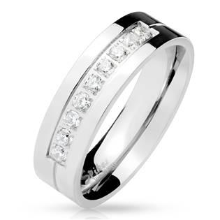 Dámský ocelový prsten se zirkony OPR1662