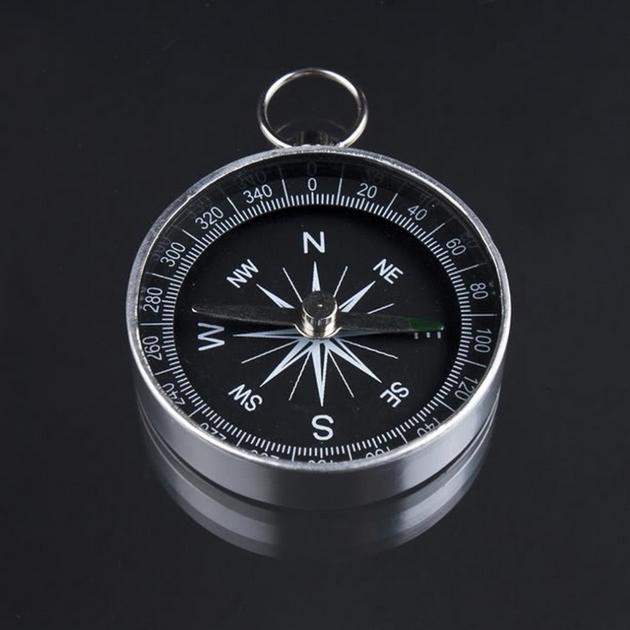 Mini kompas v kovovom puzdre