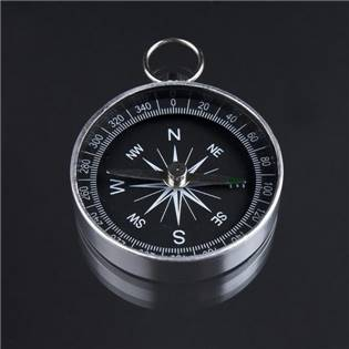Mini kompas v kovovém pouzdru