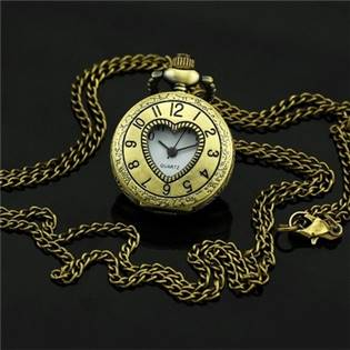 Šperky4U Malé kapesní hodinky - cibule otrvírací - KH0040