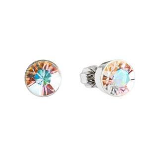 Stříbrné náušnice s krystaly Crystals from Swarovski®Crystal AB