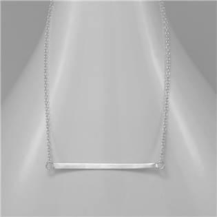 Stříbrný náhrdelník s destičkou