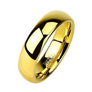 Tistenový prsten zlacený, šíře 6 mm