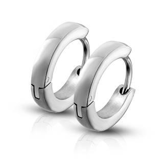 Ocelové náušnice - kroužky lesklé 2,5 mm