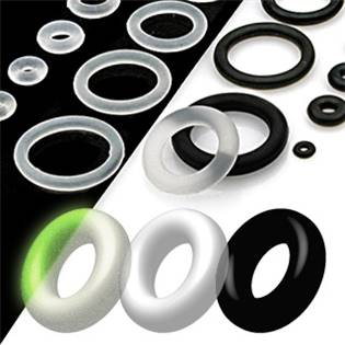 Náhradní černá gumička na plug, průměr 21 mm