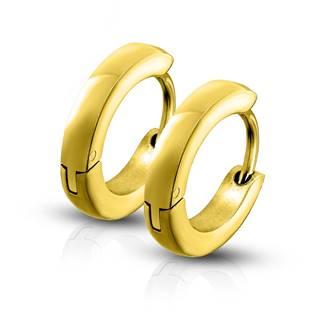 Zlacené ocelové náušnice - kroužky