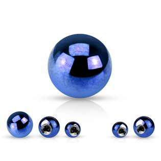 Ocelová náhradní kulička 1,2 x  3 mm, barva modrá