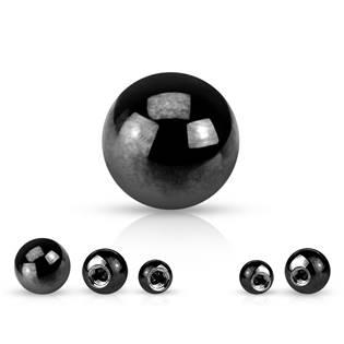 Ocelová náhradní kulička 1,2 x 3 mm, barva černá