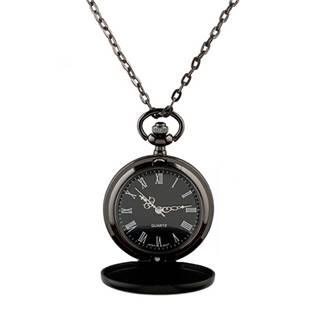 Malé kapesní hodinky otevírací černé - cibule