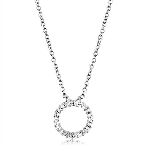 Postriebrené náhrdelník s krúžkom