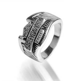 Ocelový prsten - Harley Davidson