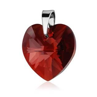 Stříbrný přívěšek srdce z dílny Crystals from Swarovski®, Siam