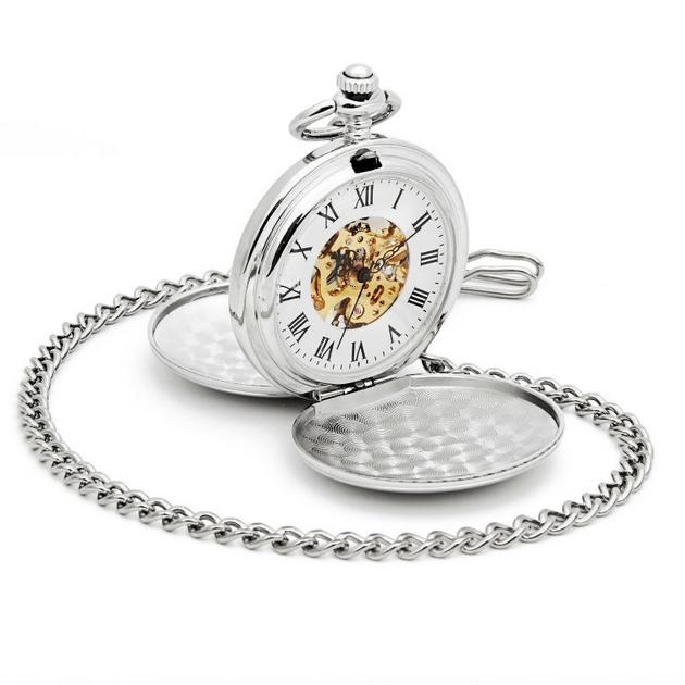 Mechanické vreckové hodinky otváracie - cibule