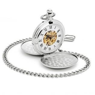 Šperky4U Mechanické kapesní hodinky otevírací - cibule - KH0019