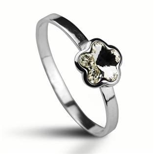 Stříbrný prsten s kytičkou Crystals from SWAROVSKI®